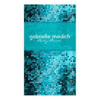 Secuencia metálica del brillo azulverde elegante tarjetas de visita