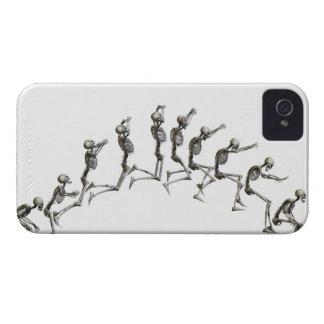 Secuencia que ilustra un salto esquelético humano Case-Mate iPhone 4 funda