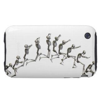 Secuencia que ilustra un salto esquelético humano iPhone 3 tough cárcasas