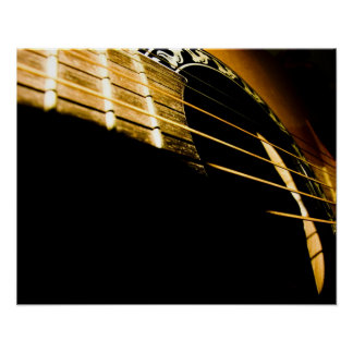 Secuencias de la guitarra acústica póster