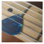 Secuencias de la guitarra eléctrica azulejo cuadrado grande