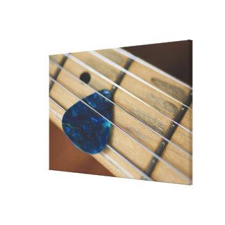 Secuencias de la guitarra eléctrica impresión en lienzo