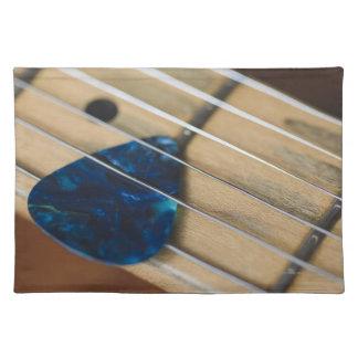 Secuencias de la guitarra eléctrica manteles individuales