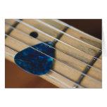 Secuencias de la guitarra eléctrica tarjeta de felicitación