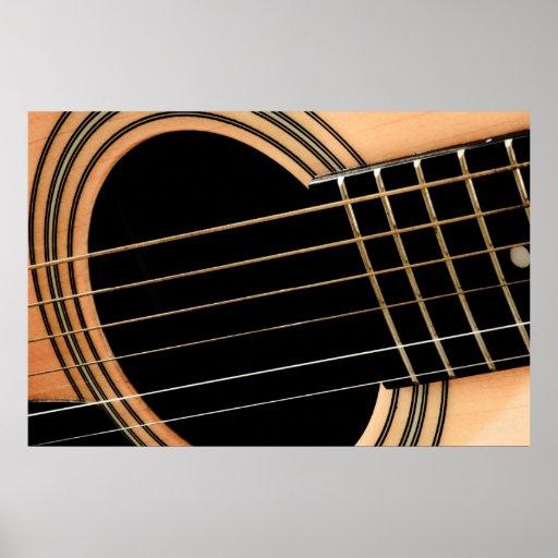 Secuencias de la guitarra póster