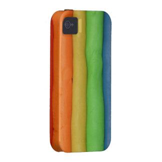 Secuencias de la pasta del arco iris iPhone 4 carcasa
