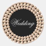 Secuencias de la perla Jeweled casando al pegatina