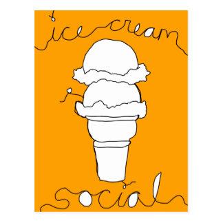 secuencias del social del helado tarjetas postales