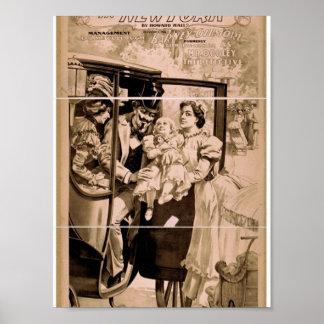 """Secuestrado en Nueva York, Th del vintage """"del sec Posters"""