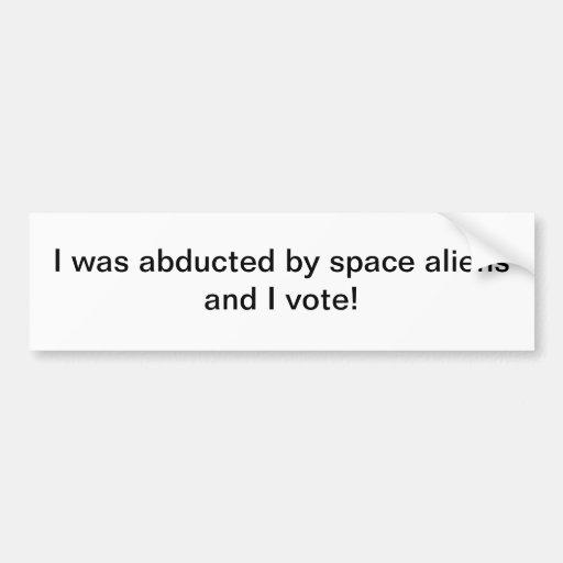 Secuestrado por los extranjeros de espacio - pegat etiqueta de parachoque