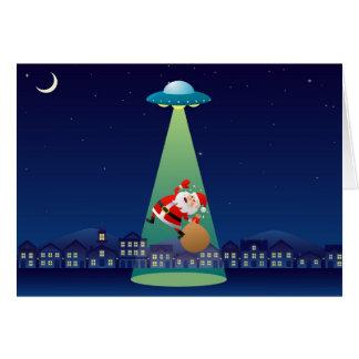 Secuestré Santa para usted tarjeta de felicitación