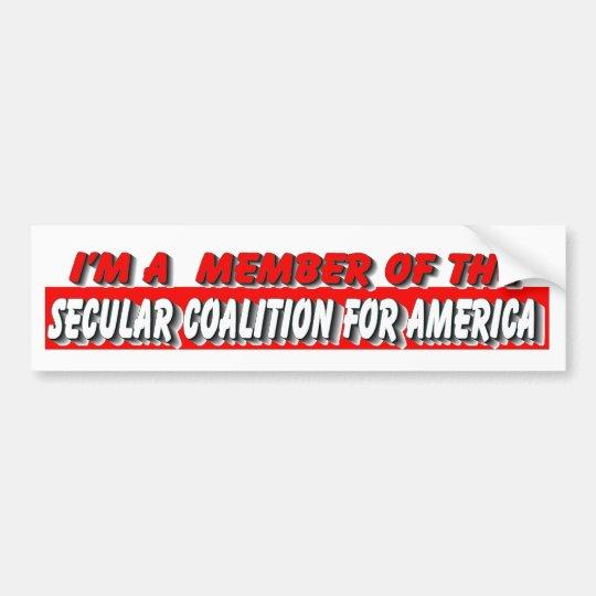SECULAR COALITION FOR AMERICA BUMPER STICKER