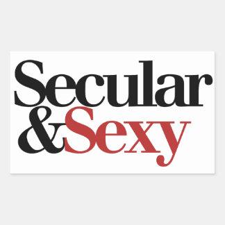 Secular Girl Rectangular Stickers