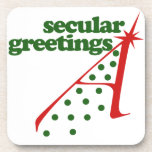Secular Greetings Coaster