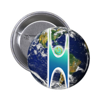 Secular H+ Earth Pinback Buttons