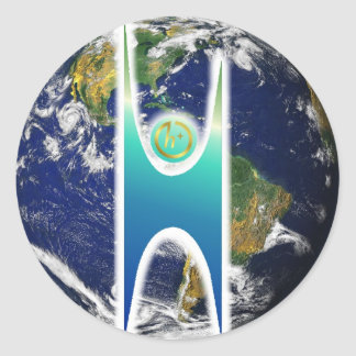 Secular H+ Earth Classic Round Sticker