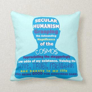 Secular Humanism Throw Pillow