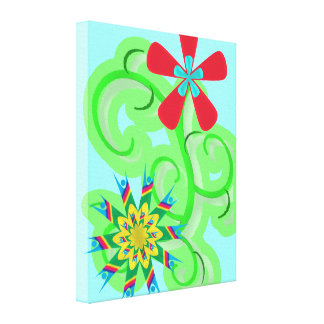 Secular Humanist and Atheist Symbol Flowers Canvas Print