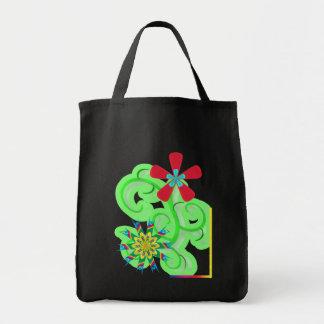 Secular Humanist & Atheist Symbol Flowers Tote Bag