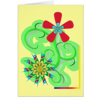 Secular Humanist Atheist Symbol Flowers Greeting Card
