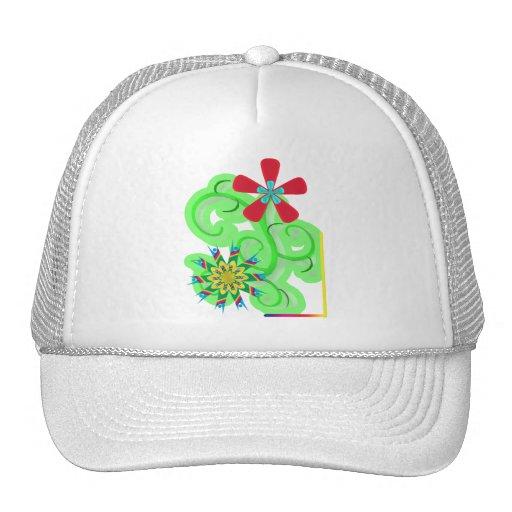 Secular Humanist & Atheist Symbol Flowers Trucker Hat