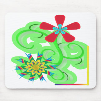 Secular Humanist & Atheist Symbol Flowers Mouse Pads