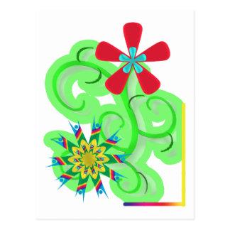Secular Humanist & Atheist Symbol Flowers Postcard