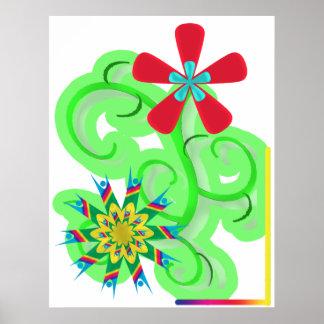 Secular Humanist & Atheist Symbol Flowers Posters