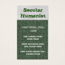 Secular Humanist Business Card