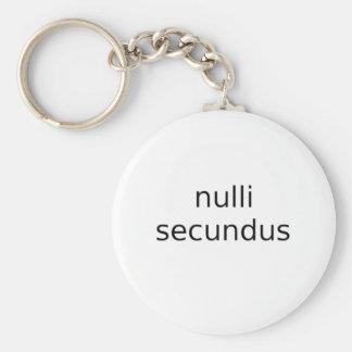 secundus del nulli en segundo lugar a ningunos llavero redondo tipo pin