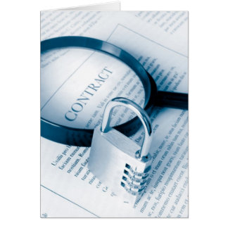 secure contract greeting card
