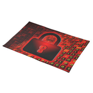 Secure data cloth placemat