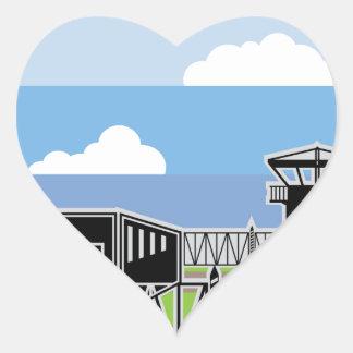 Secure Facility Prison Camp Heart Sticker