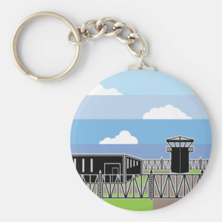 Secure Facility Prison Camp Keychain