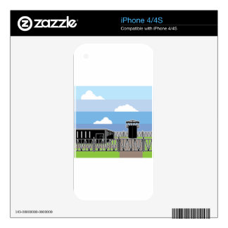 Secure Facility Prison Camp Skin For The iPhone 4