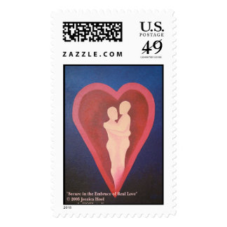 Secure in the Embrace of Real Love Postage Stamp