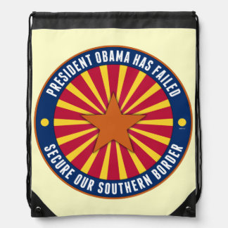Secure Our Southern Border Drawstring Backpack