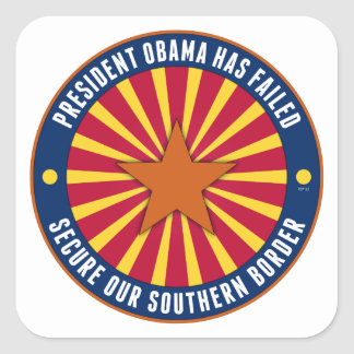 Secure Our Southern Border Square Sticker