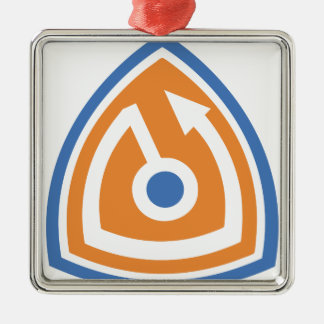 secure shield metal ornament