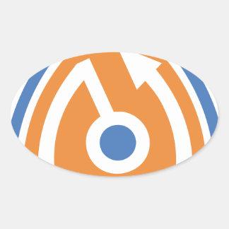 secure shield oval sticker