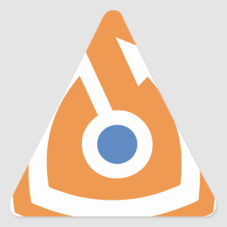 secure shield triangle sticker