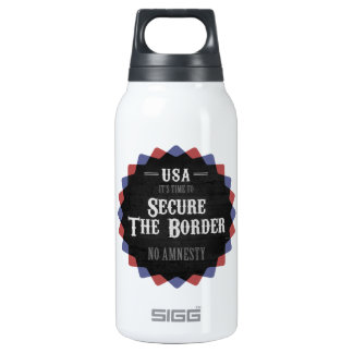 Secure The Border Insulated Water Bottle