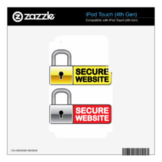 Secure Website Symbol Icon Decals For iPod Touch 4G
