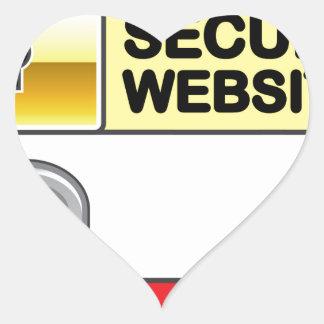 Secure Website Symbol Icon Heart Sticker