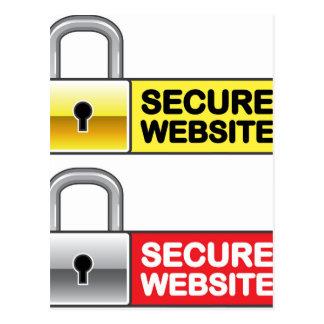 Secure Website Symbol Icon Postcard