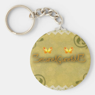 SecureACure4MS Basic Round Button Keychain