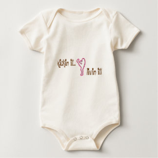 securedownload-1, Kickin it..., livin it! Baby Bodysuit