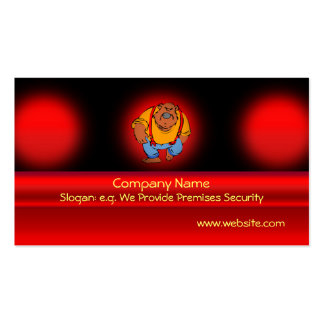 Security Bear doorman in bib overalls Double-Sided Standard Business Cards (Pack Of 100)