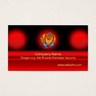 Security Bear doorman in bib overalls Business Card