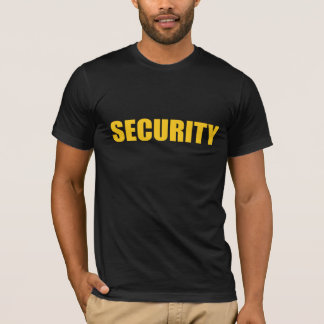 Security- black and yellow T-Shirt